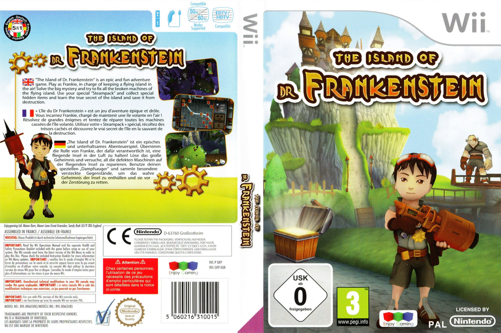 The Island of Dr. Frankenstein Wii coverfullHQ (SIFPNJ)