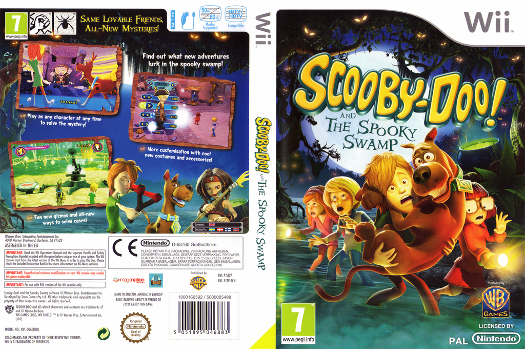 Scooby-Doo! and the Spooky Swamp Wii coverfullHQ (SJ2PWR)