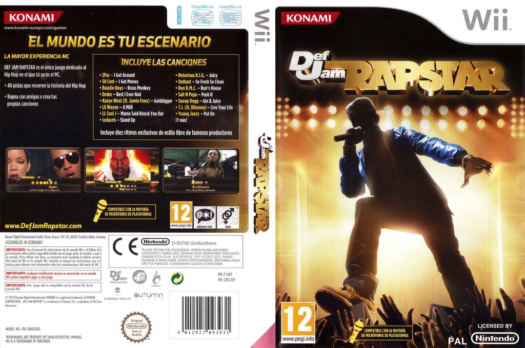 Def Jam Rapstar Wii coverfullHQ (SJRZA4)