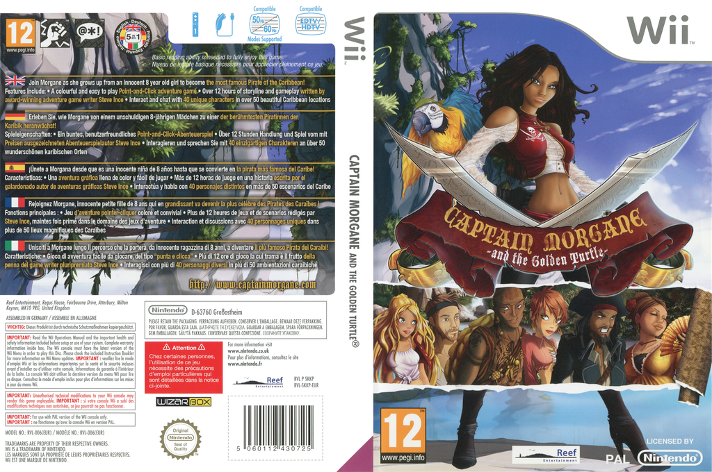 Captain Morgane and the Golden Turtle Wii coverfullHQ (SKKPHY)