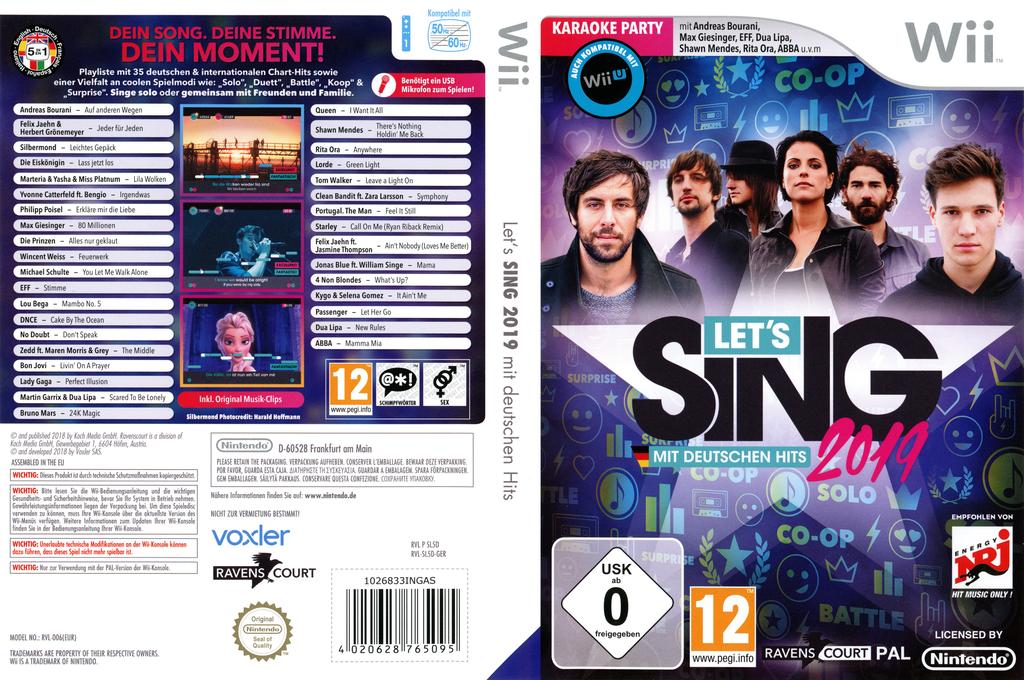 Let's Sing 2019 - Mit Deutschen Hits! Wii coverfullHQ (SL5DKM)