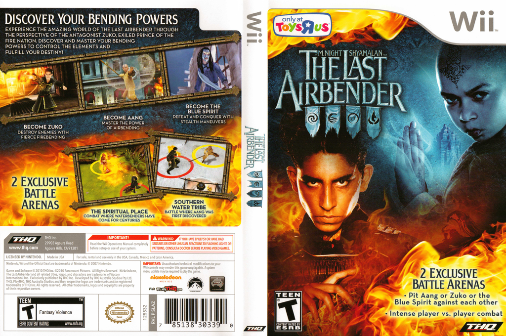 The Last Airbender: Toys R Us Special Edition Wii coverfullHQ (SLAZ78)