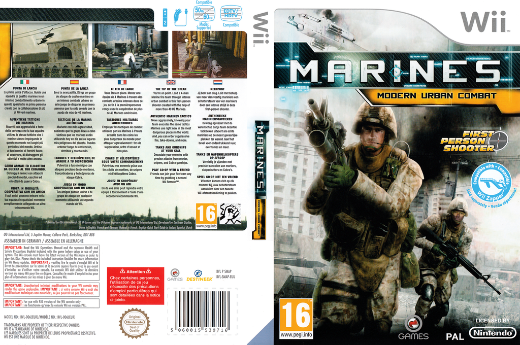 Marines:Modern Urban Combat Wii coverfullHQ (SMAPGN)