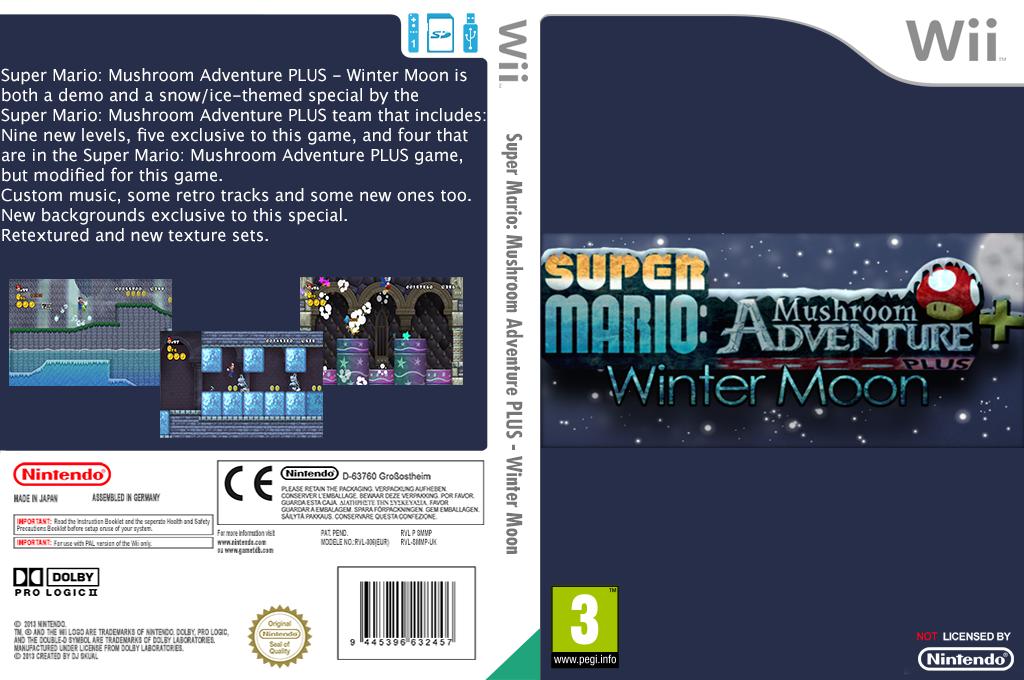 Super Mario: Mushroom Adventure PLUS: Winter Moon Wii coverfullHQ (SMMP02)