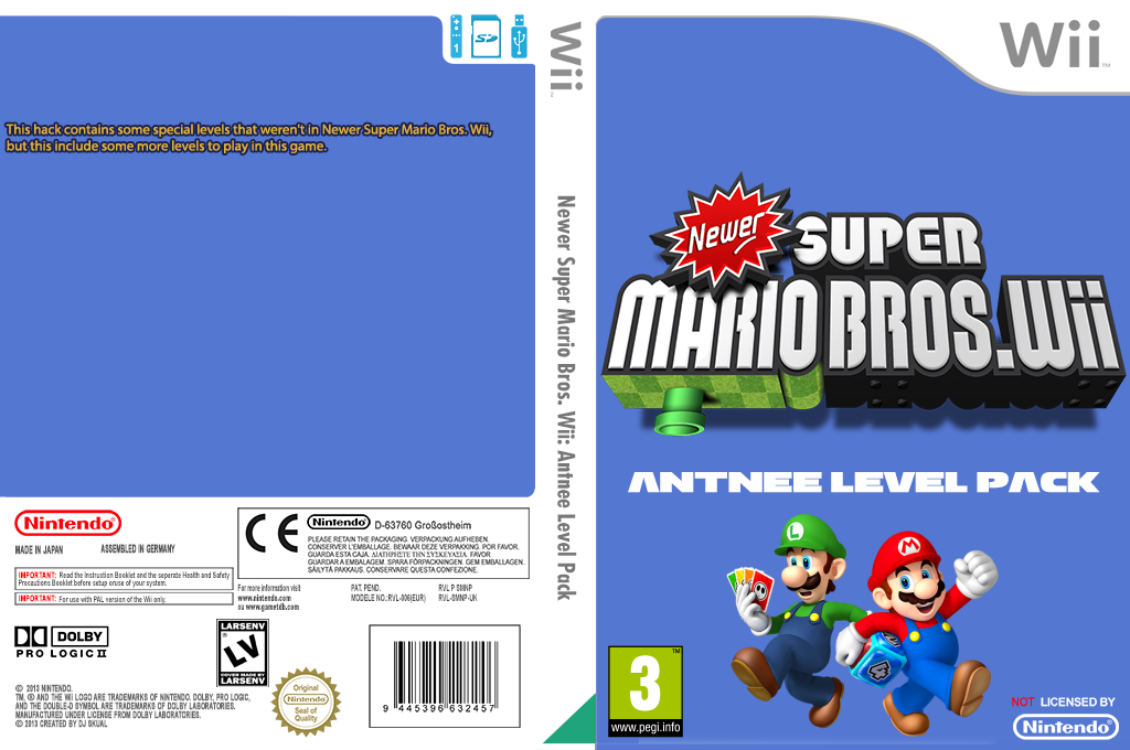Newer Super Mario Bros. Wii: Antnee Level Pack Wii coverfullHQ (SMNP39)