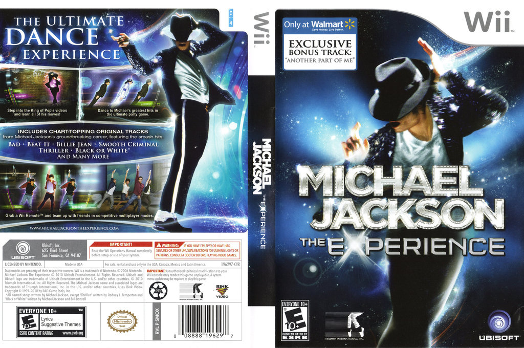 Michael Jackson: The Experience - Walmart Edition Wii coverfullHQ (SMOX41)