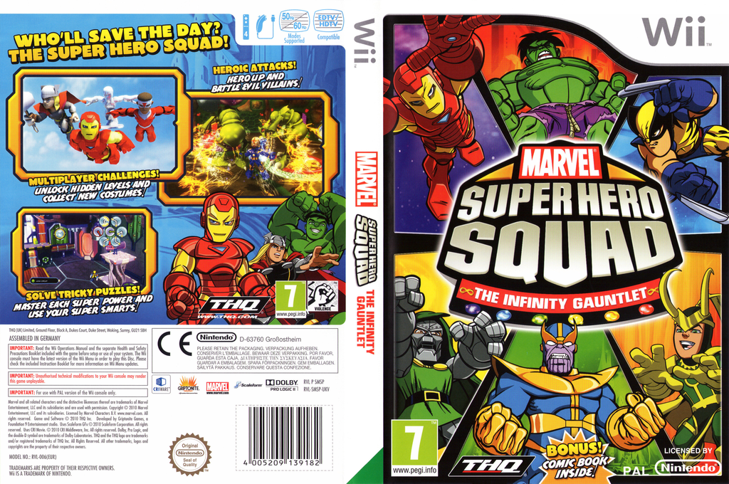 Marvel Super Hero Squad: The Infinity Gauntlet Wii coverfullHQ (SMSP78)
