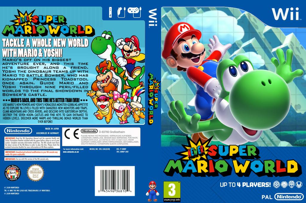 Newer Super Mario World U Wii coverfullHQ (SMWP01)