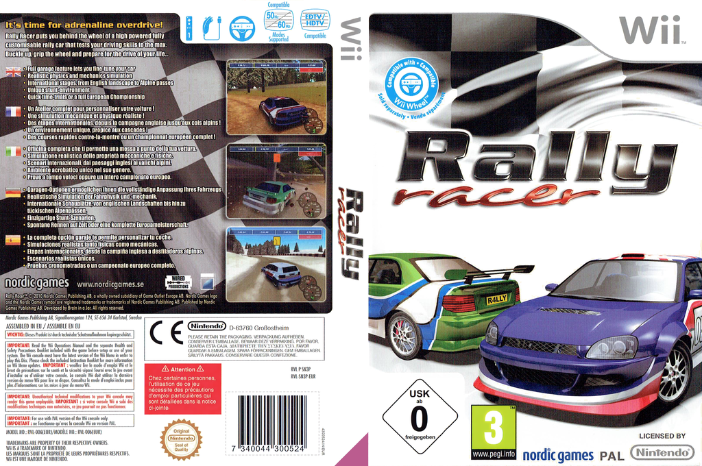 Rally Racer Wii coverfullHQ (SN3PNG)