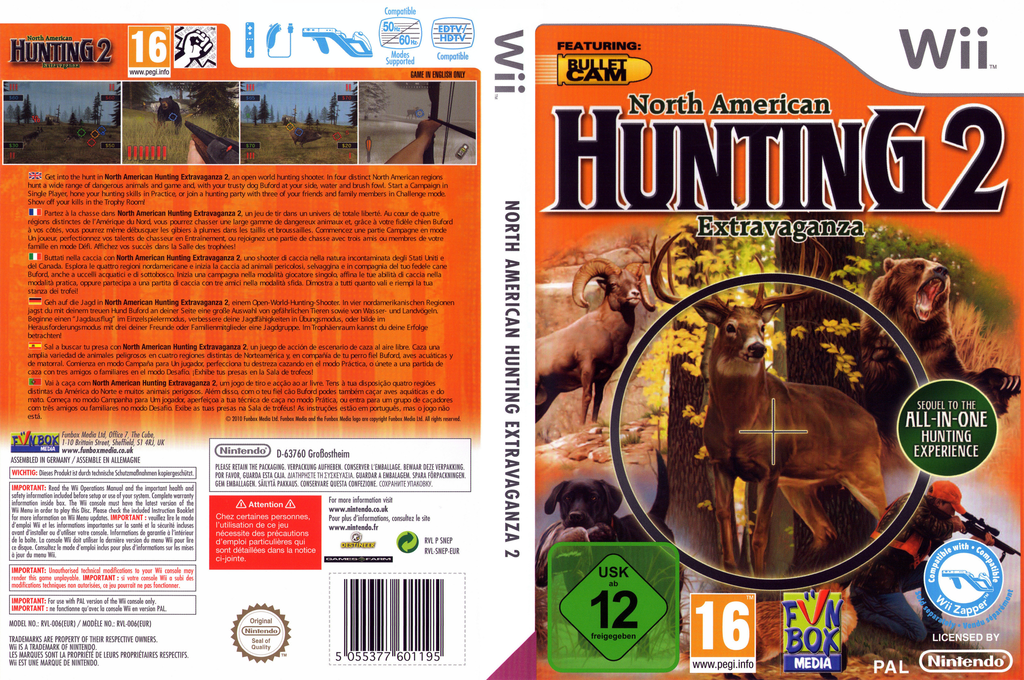 North American Hunting 2: Extravaganza Wii coverfullHQ (SNEPXT)