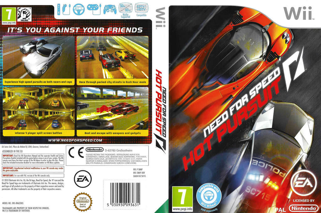 Need for Speed:Hot Pursuit Wii coverfullHQ (SNHP69)