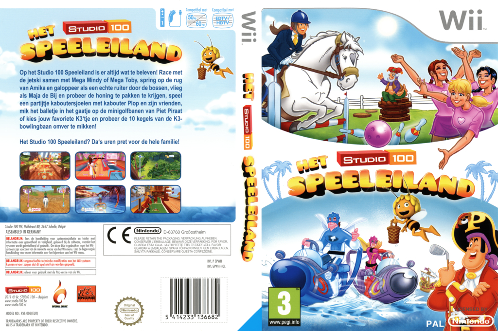The Studio 100: Play Island Wii coverfullHQ (SPWHZH)