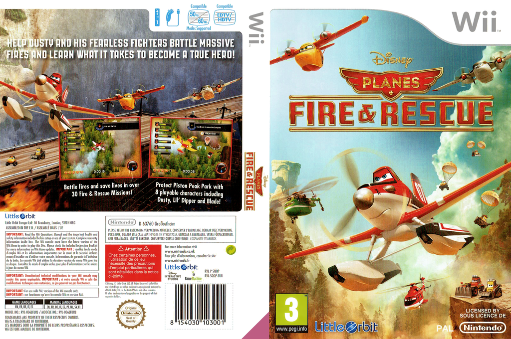 Disney Planes: Fire & Rescue Wii coverfullHQ (SQQPVZ)