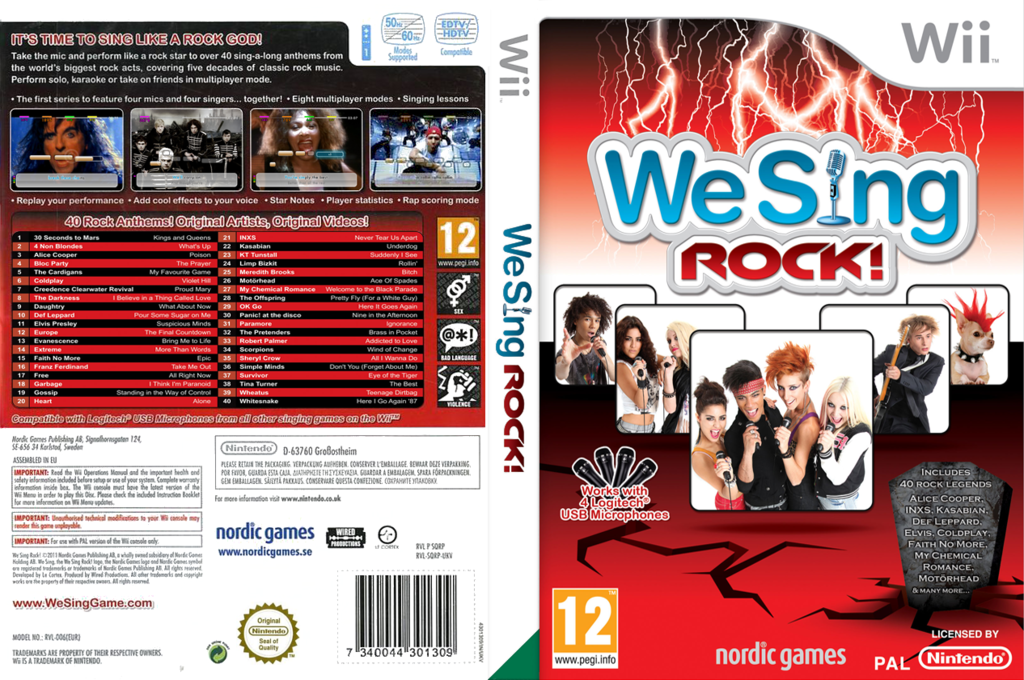 We Sing Rock! Wii coverfullHQ (SQRPNG)