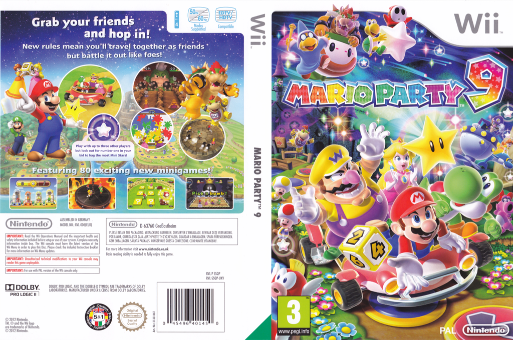 Mario Party 9 Wii coverfullHQ (SSQP01)