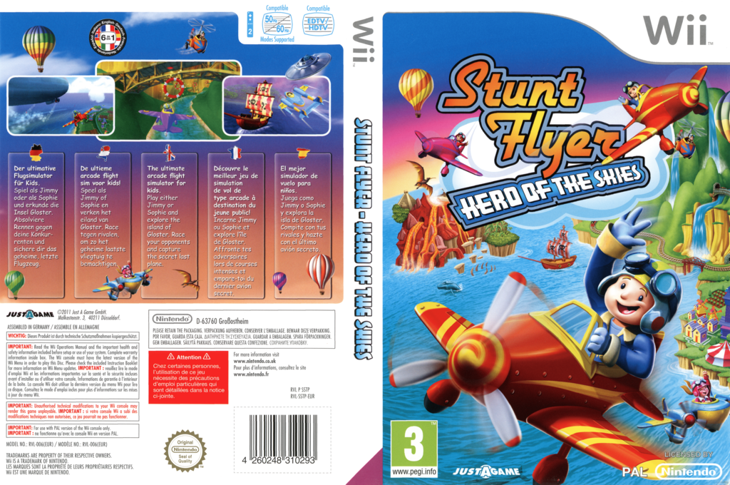 Stunt Flyer: Hero of the Skies Wii coverfullHQ (SSTPY5)