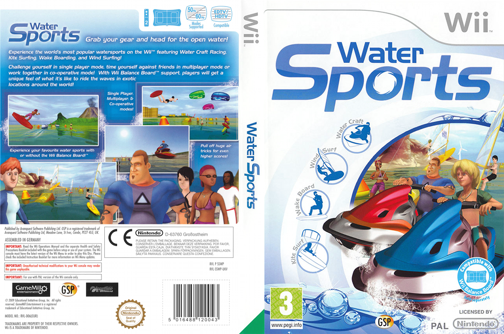 Water Sports Wii coverfullHQ (SSWPGR)