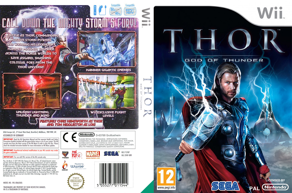 THOR: God of Thunder Wii coverfullHQ (STHP8P)