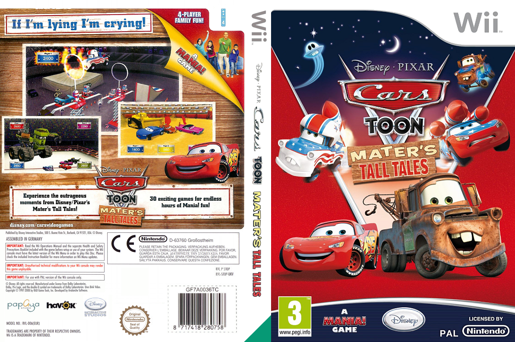 Cars Toon:Mater's Tall Tales Wii coverfullHQ (STOP4Q)