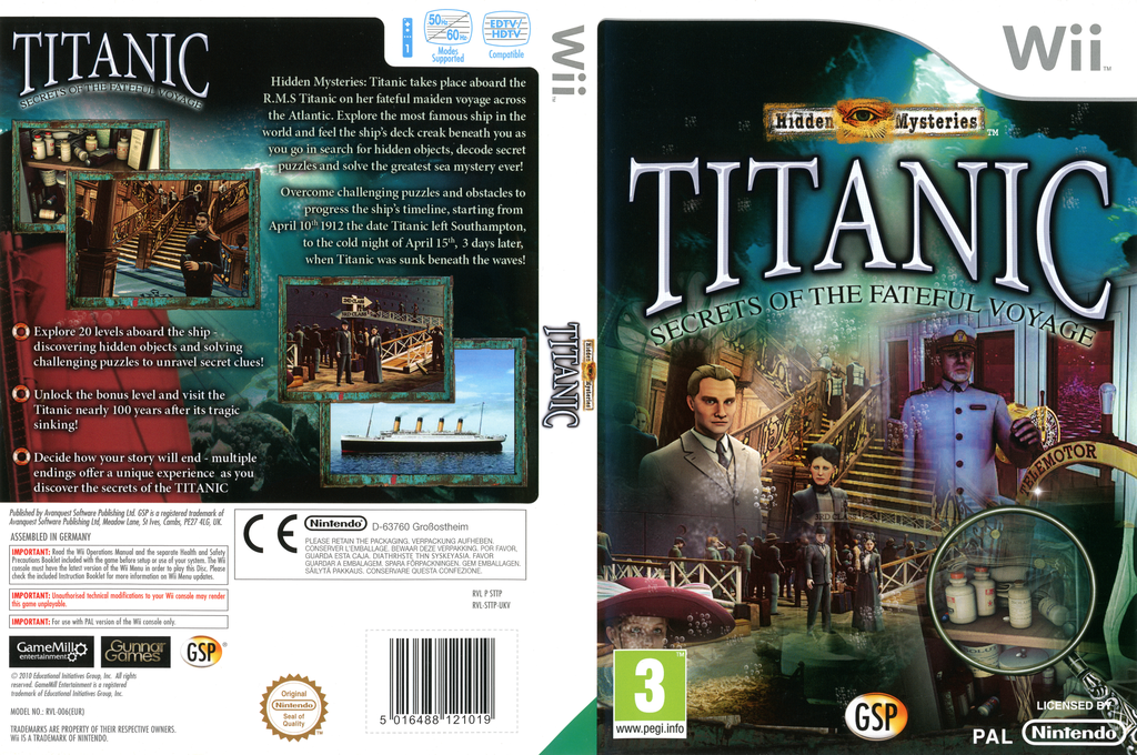 Hidden Mysteries Titanic:Secrets of the Fateful Voyage Wii coverfullHQ (STTPGR)