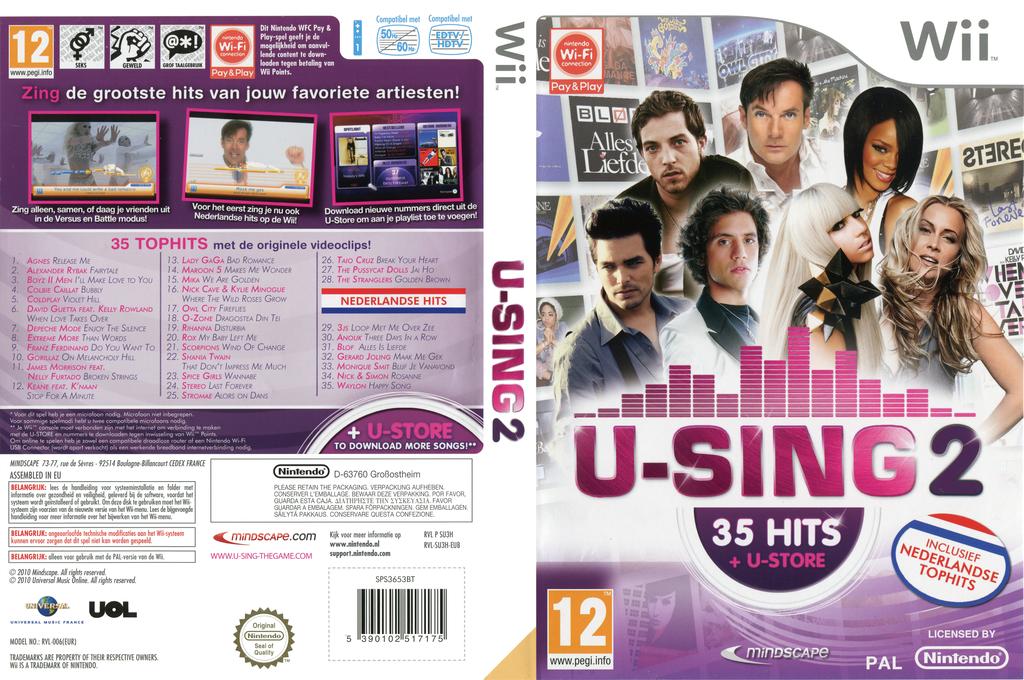 U-Sing 2: Popstars Edition Wii coverfullHQ (SU3HMR)