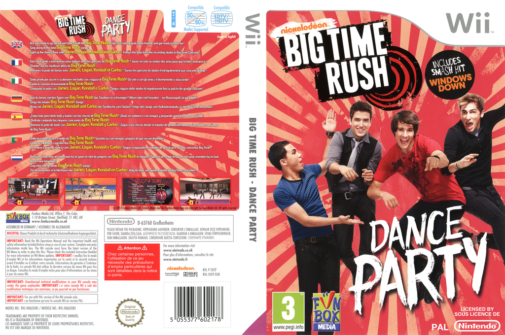 Big Time Rush: Dance Party Wii coverfullHQ (SVCPXT)