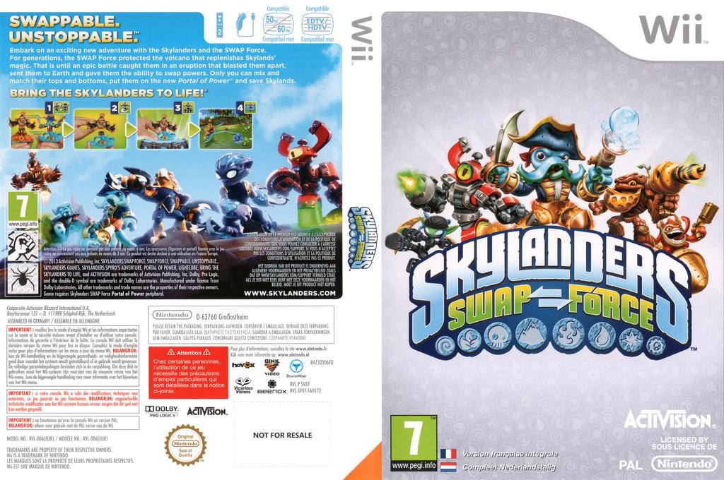 Skylanders: Swap Force Wii coverfullHQ (SVXF52)