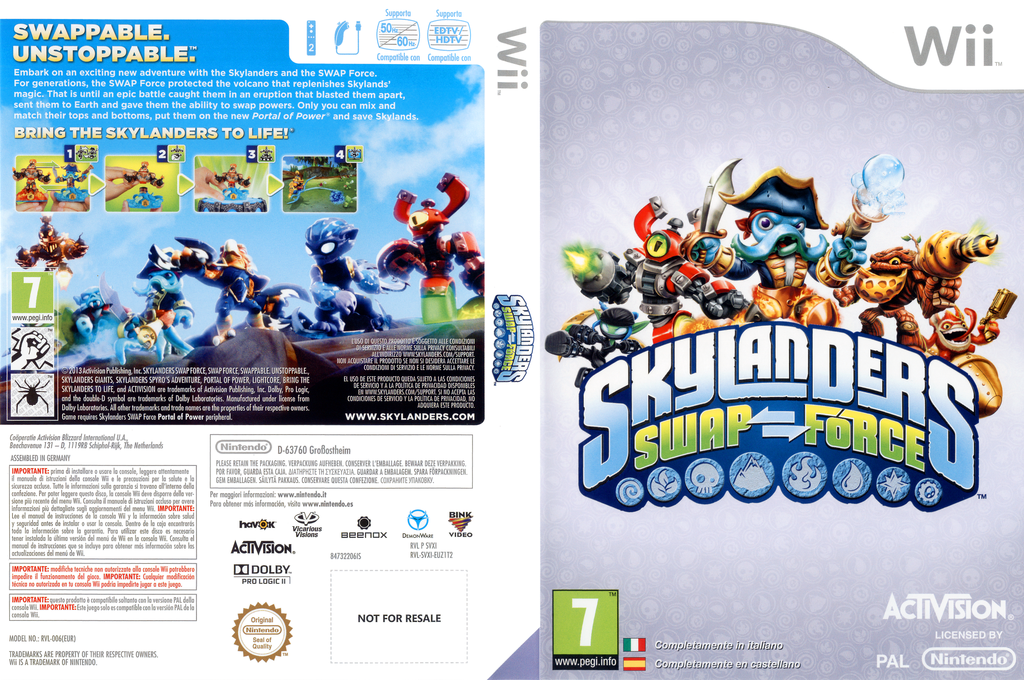 Skylanders: Swap Force Wii coverfullHQ (SVXI52)