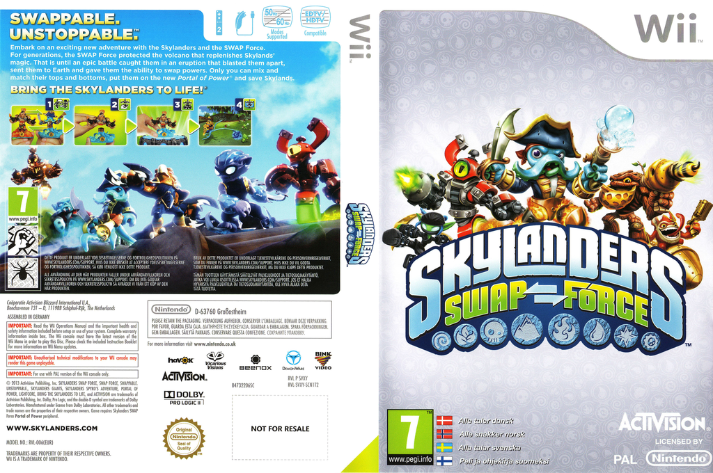 Skylanders: Swap Force Wii coverfullHQ (SVXY52)