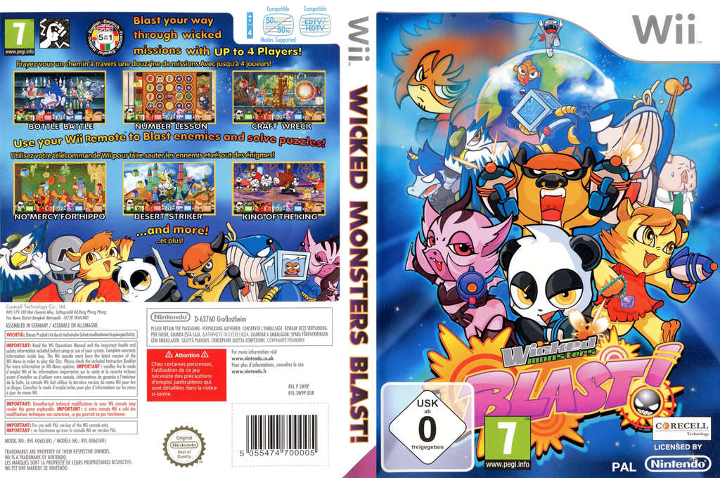 Wicked Monsters Blast! Wii coverfullHQ (SW9PYT)