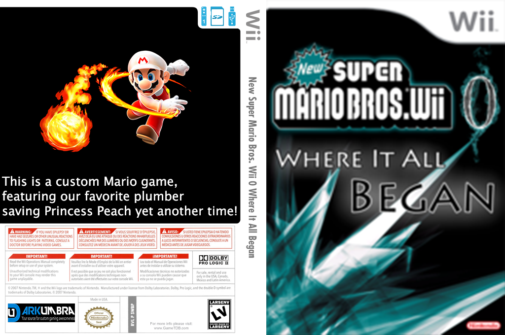 New Super Mario Bros. Wii 0 Where It All Began Wii coverfullHQ (SWBP01)