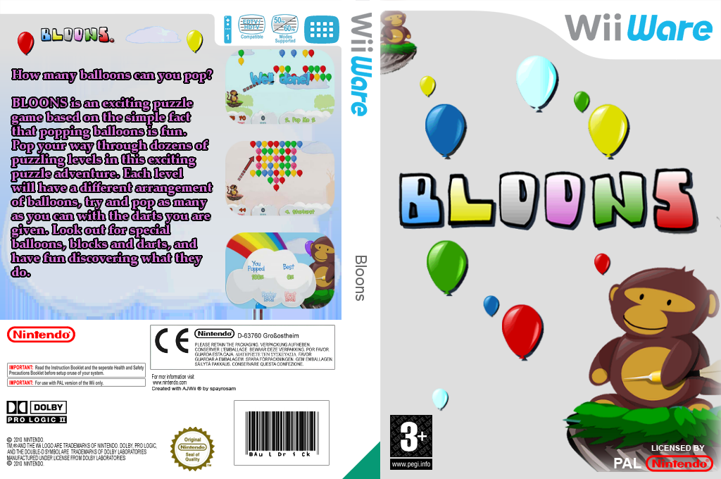 Bloons Wii coverfullHQ (W2LP)