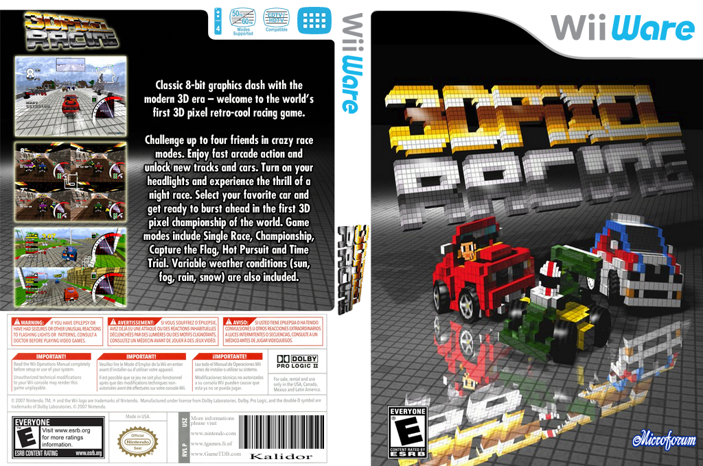3D Pixel Racing Wii coverfullHQ (W3FP)