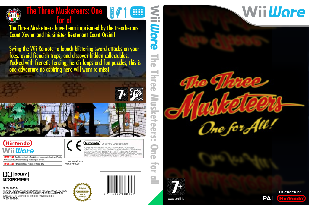 The Three Musketeers: One for all Wii coverfullHQ (W3MP)