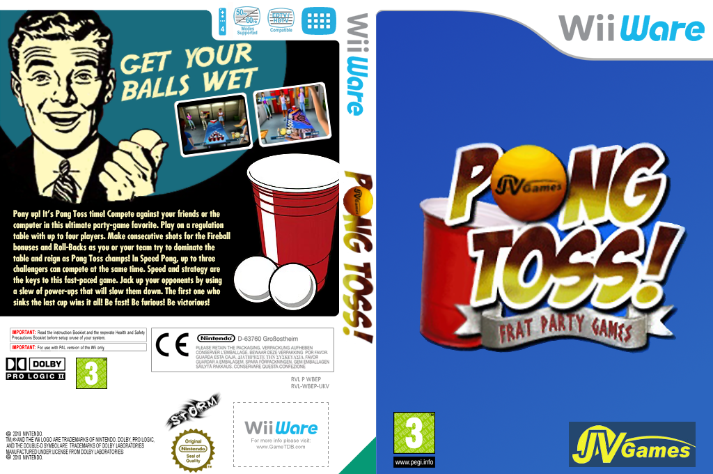 Beer Pong: Frat Party Games Wii coverfullHQ (WBEP)