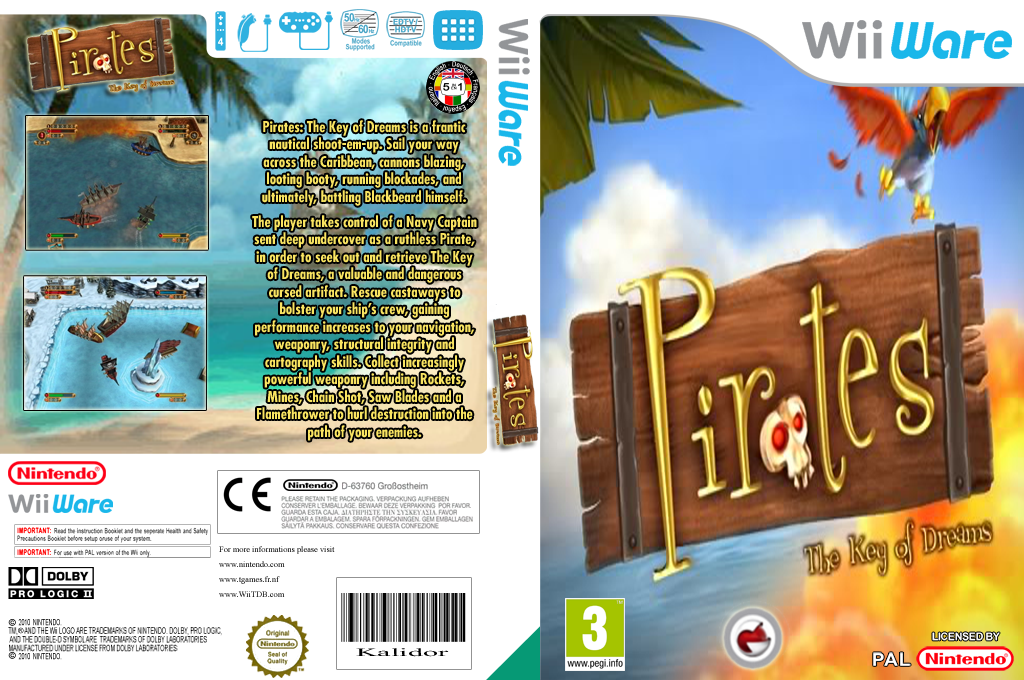 Pirates: The Key of Dreams Wii coverfullHQ (WBRP)