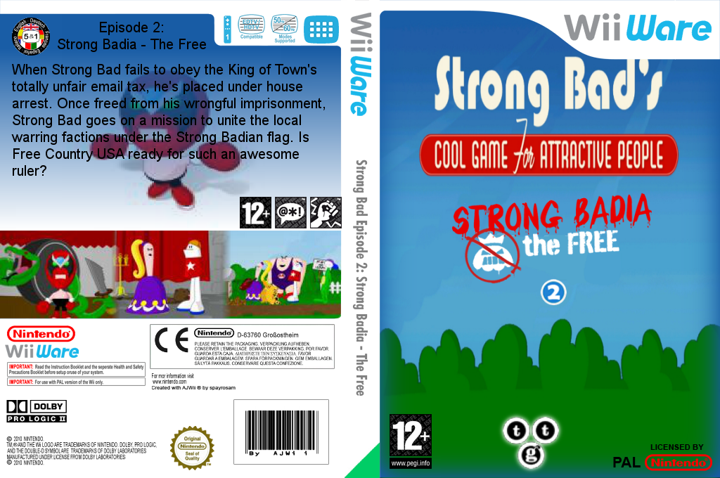 Strong Bad Episode 2: Strong Badia - The Free Wii coverfullHQ (WBYP)