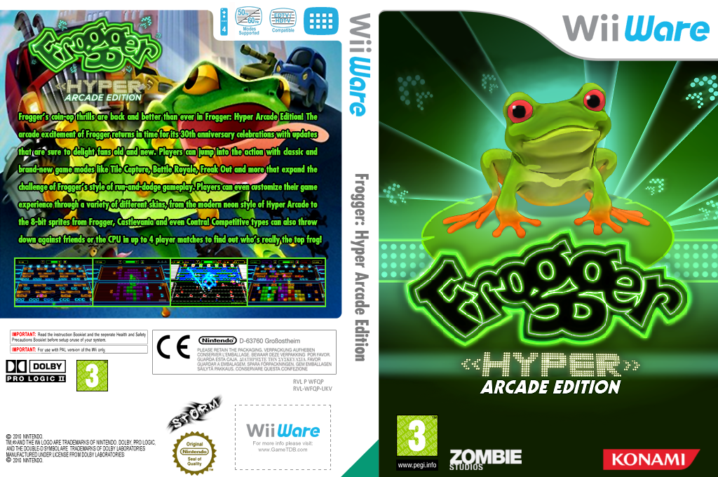 Frogger: Hyper Arcade Edition Wii coverfullHQ (WFQP)