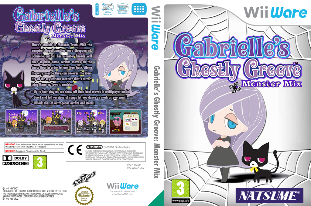 Gabrielle's Ghostly Groove: Monster Mix Wii coverfullHQ (WGGP)