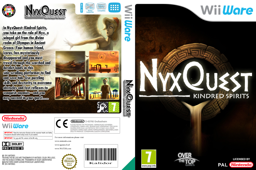 NyxQuest: Kindred Spirits Wii coverfullHQ (WICP)