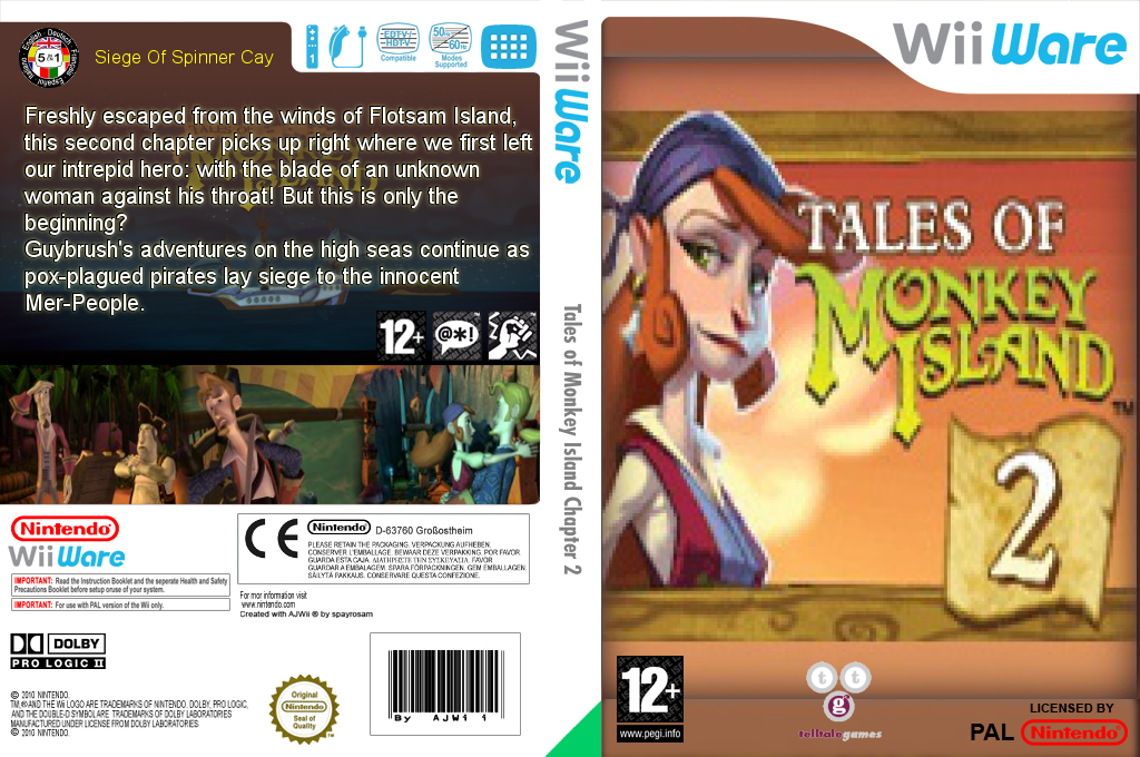 Tales of Monkey Island Chapter 2: The Siege of Spinner Cay Wii coverfullHQ (WISP)