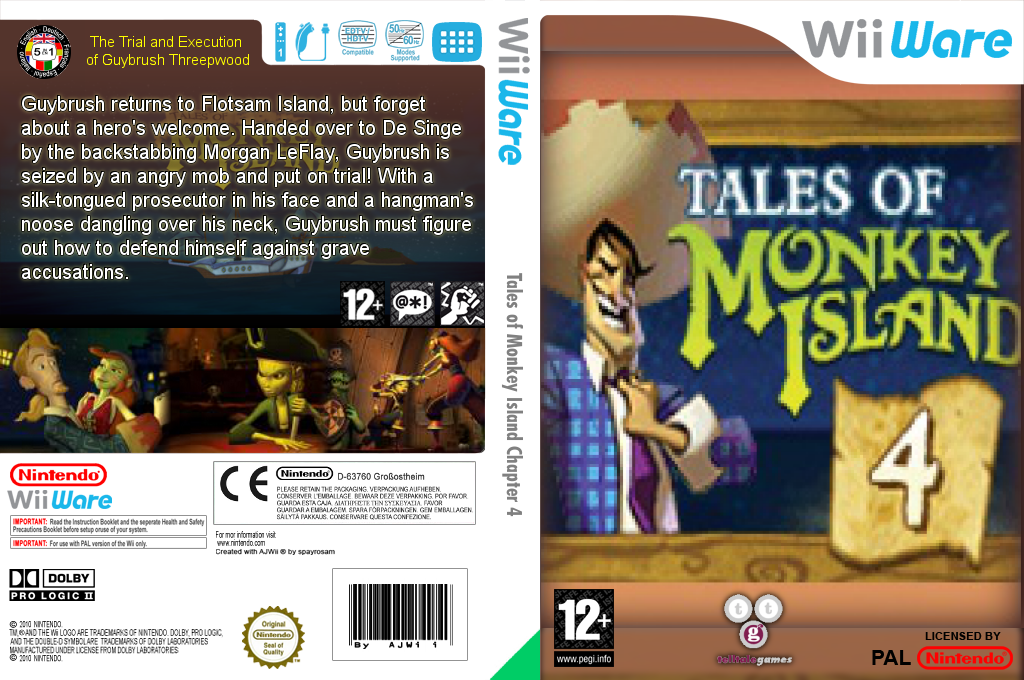 Tales of Monkey Island Chapter 4: The Trial and Execution of Guybrush Threepwood Wii coverfullHQ (WIYP)