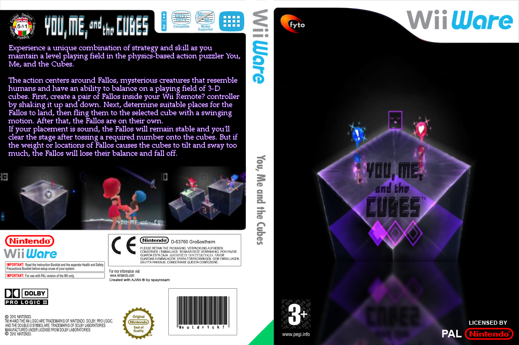 You, Me and the Cubes Wii coverfullHQ (WKBP)