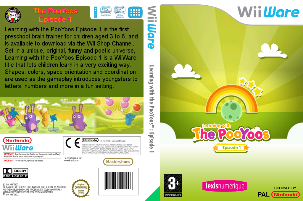 Learning with the PooYoos: Episode 1 Wii coverfullHQ (WLEP)