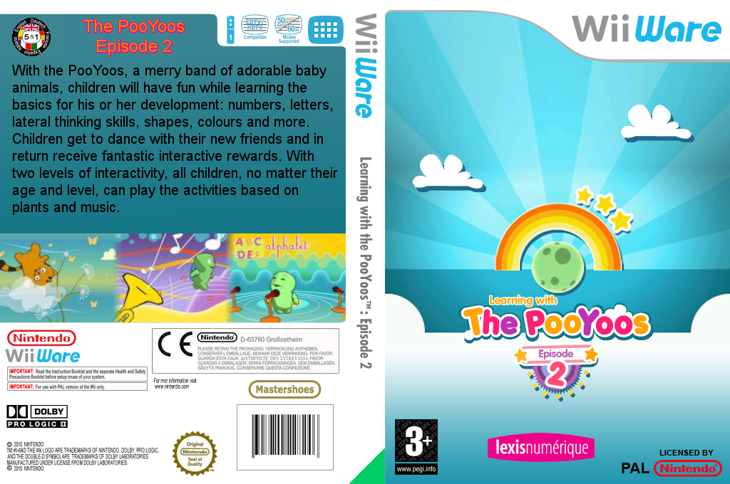 Learning with the PooYoos: Episode 2 Wii coverfullHQ (WLNP)