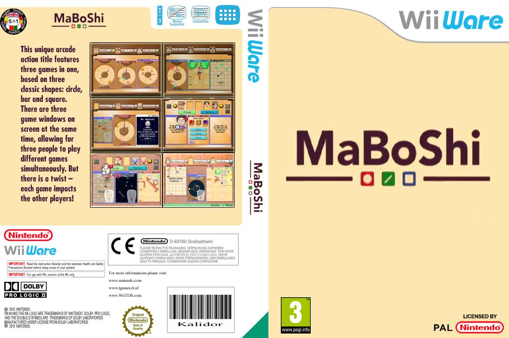 MaBoShi: The Three Shape Arcade Wii coverfullHQ (WMBP)