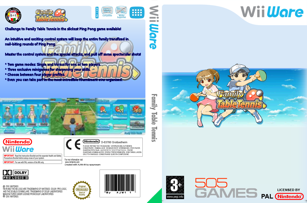 Family Table Tennis Wii coverfullHQ (WPPP)