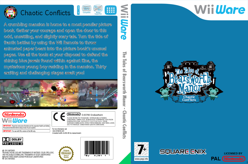 The Tales of Bearsworth Manor: Chaotic Conflicts Wii coverfullHQ (WPVP)