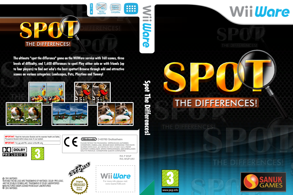 Spot the Differences! Wii coverfullHQ (WSJP)