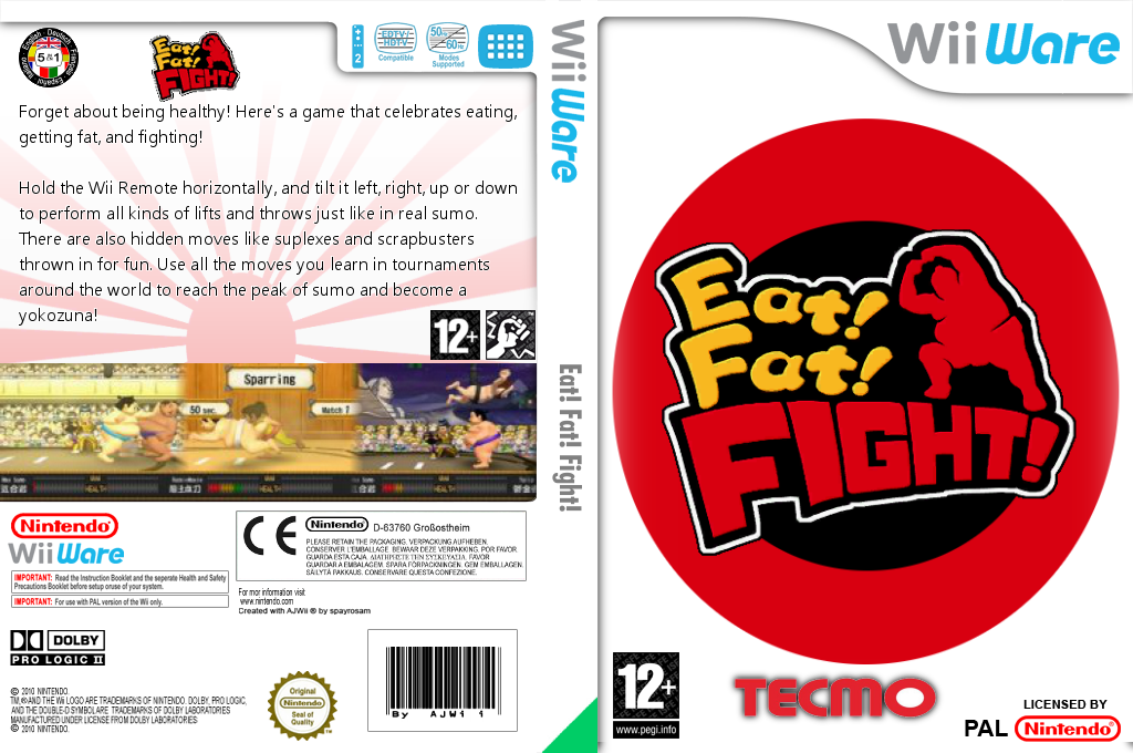Eat! Fat! FIGHT! Wii coverfullHQ (WSMP)